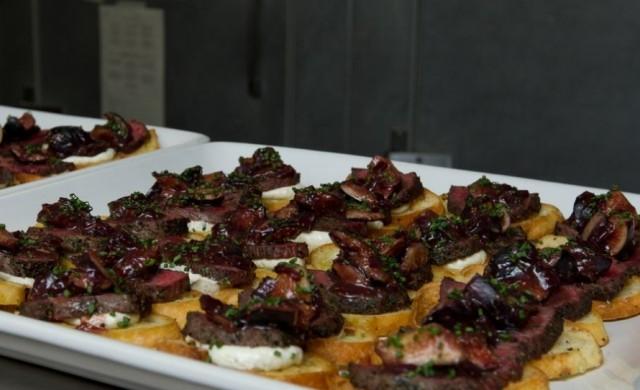 feast of five senses crostini dish