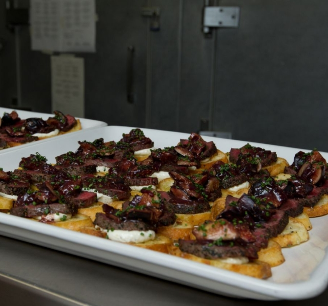 feast of five senses crostini dish