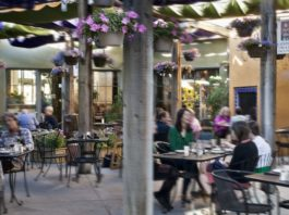 Oasis Cafe Patio with Diners