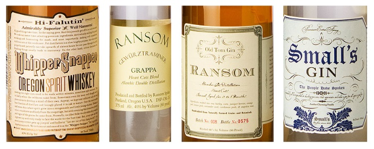 ransom wine and spirits bottles