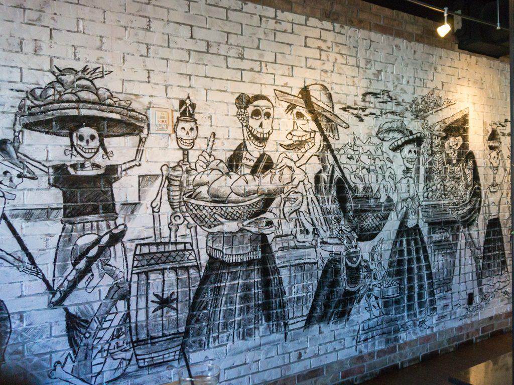 Alamexo: wall at at the bar