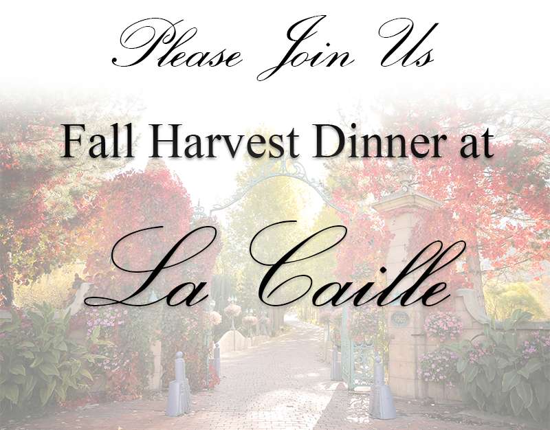 la caille fall dinner