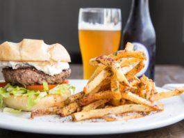 Trestle Tavern: trestle burger and fries