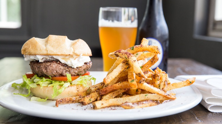 Trestle Tavern: trestle burger and fries