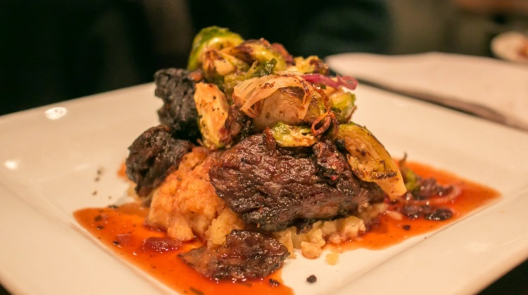 Balsamic braised short ribs with tarragon demi-sauce from SLC eats review of Deseret Edge Pub