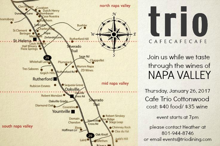 napa valley wine dinner cafe trio