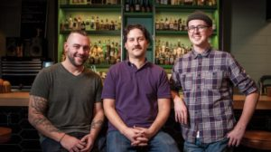 Owners of Water Witch, the three horsemen of the liver apocalypse. Credit, SL Mag.