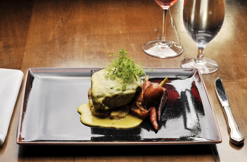 Goldener Hirsch Inn - ribeye, asparagus, crispy fingerlings, sauce Marquis