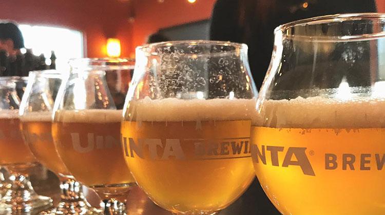Uinta Brewing - beer at brew house pub. Credit Uinta