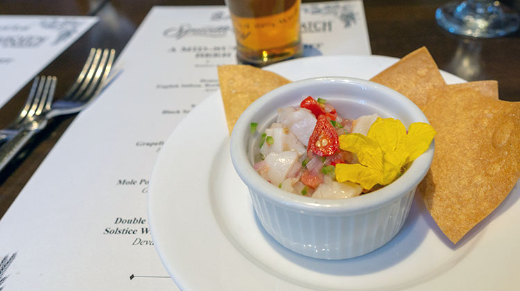 Bambara - scallop ceviche from Wasatch beer pairing dinner