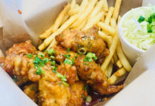 Bok Bok Chicken - boneless chicken and fries (Bok Bok Chicken)