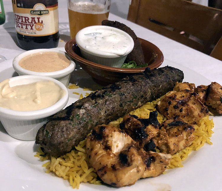 Mazza - kebabs and rice