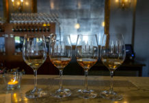 BTG Wine Bar - blushing beauties wine flight