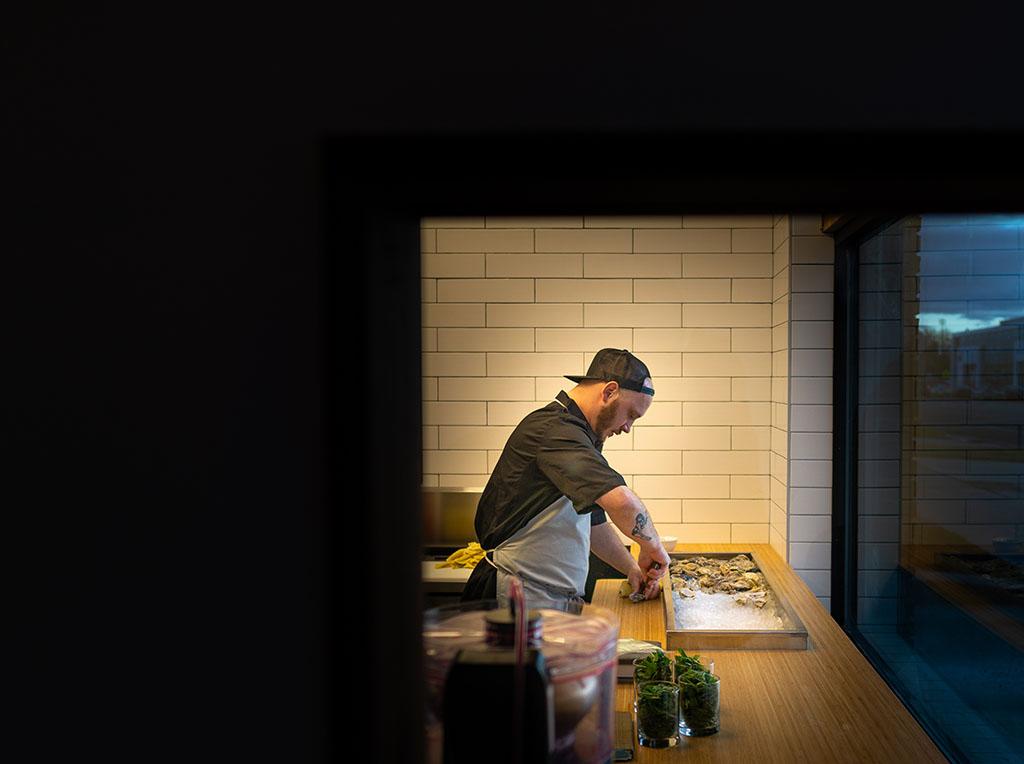 SLC Eatery - prep kitchen at work