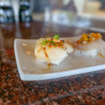 Sushi Groove - scallop with Tobiko, togarashi, spicy mayo, green onion, ponzu