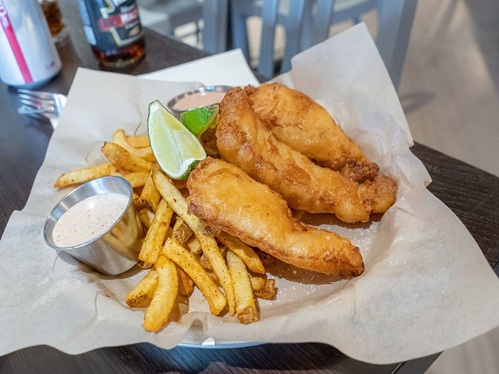 Hopkins Brewing - fish and chips