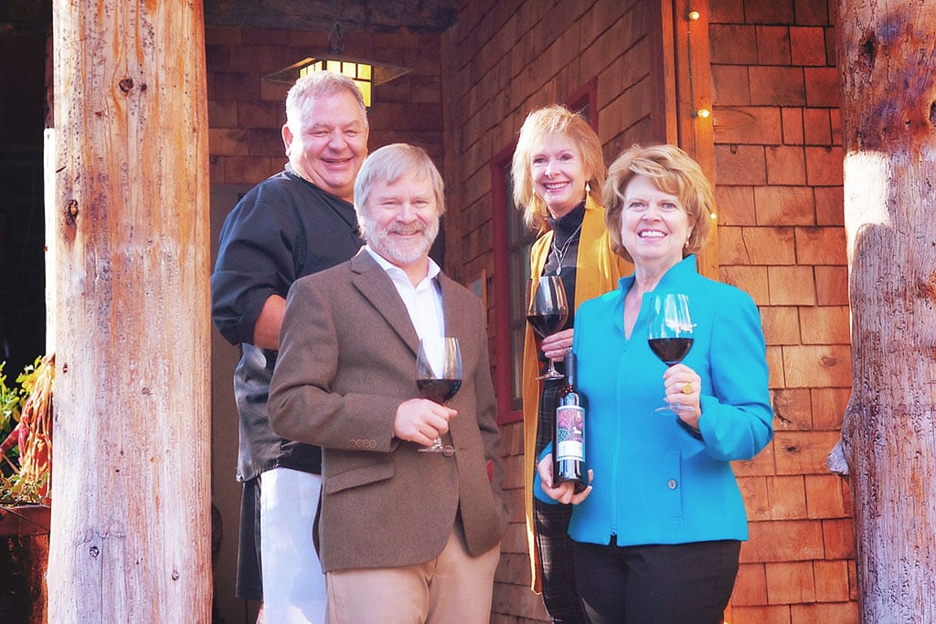 Log Haven partners, L-r: Dave Jones, Ian Campbell, Faith Scheffler, Margo Provost