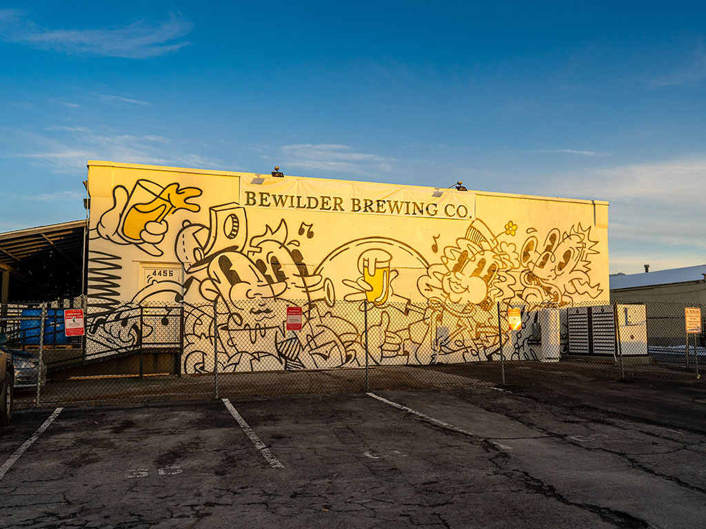 Bewilder Brewing - exterior and sign