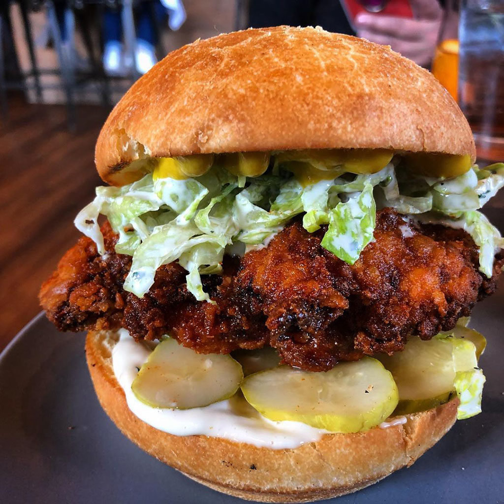 Oak Wood Fire Kitchen - chicken sandwich (slclunches)