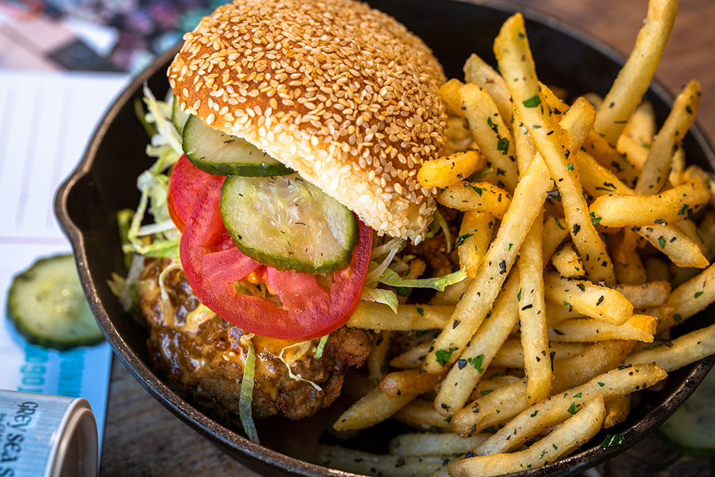 Punch Bowl Social - Alabama chicken sandwich