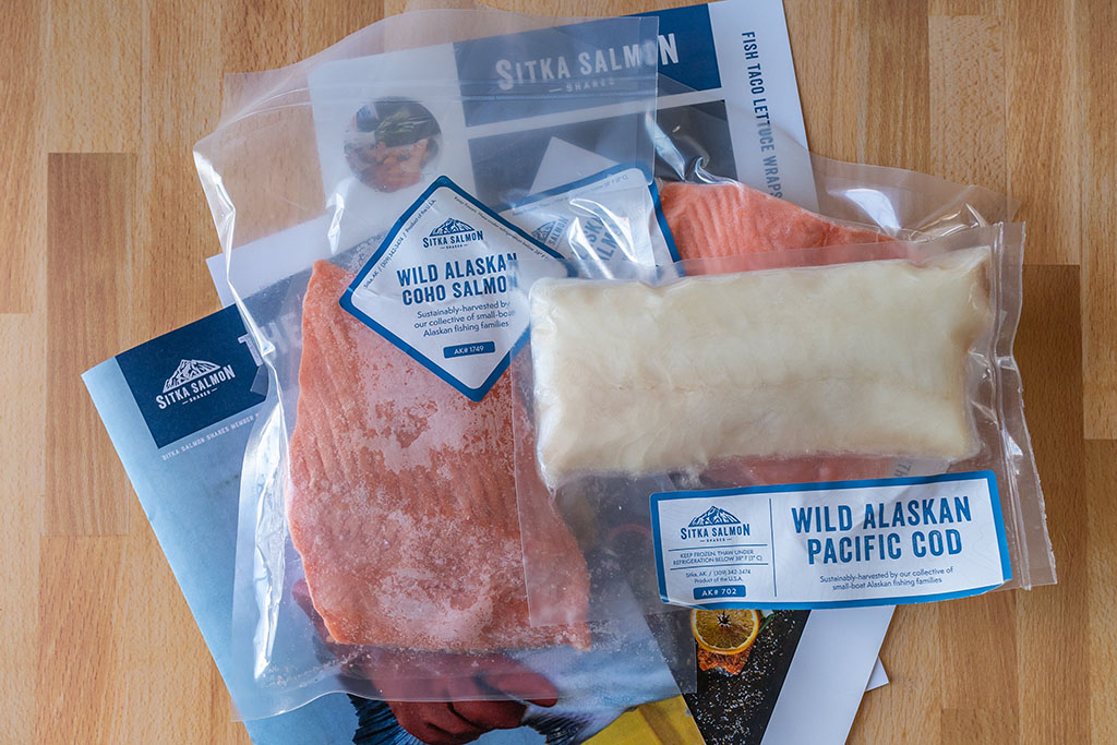 Alaskan seafood from Sitka Salmon Shares