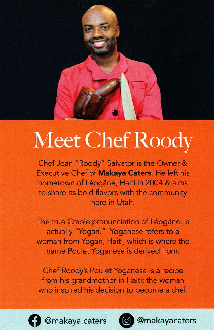Chef Roody of Makaya Catering