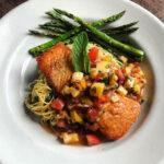 Caffe Molise - pan-seared king salmon