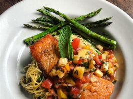 Caffe Molise - pan-seared king salmon