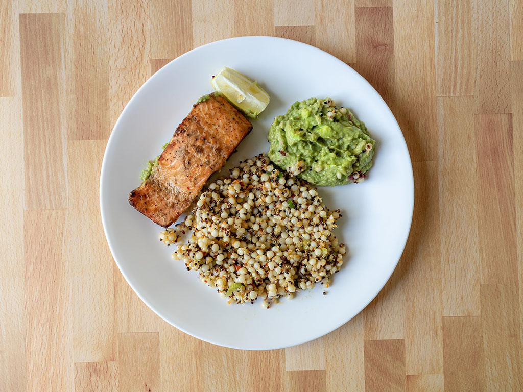 Vessel Kitchen - trout, cous cous, guacamole