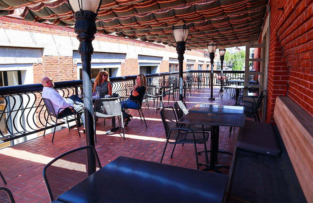 Patio at Desert Edge Brewery, Desert Edge