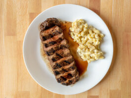 Carson Kitchen - steak with mac n cheese