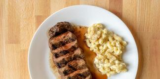 Carson Kitchen - steak with mac n cheese