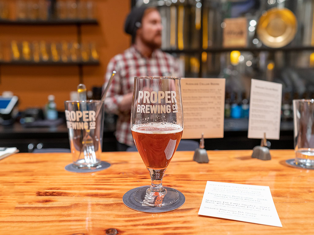Avenues Proper beer cellar dinner in 2020