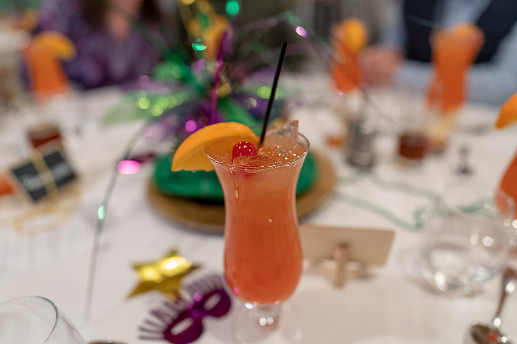 Stanza Mardi Gras 2020 dinner - - daquiri